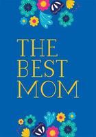 lycklig mors dagskort med blommig dekoration