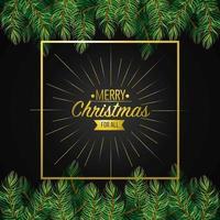 Weihnachtskarte Dekoration Design