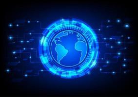 Futuristisches globales Benutzerdiagramm