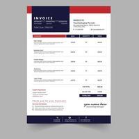 Professionelle Minimal Business Rechnungsvorlage