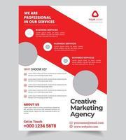 Företags abstrakt reklamblad
