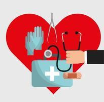 medicinsk sjukvård ikon vektor