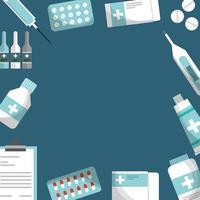 medizinische Gesundheitsversorgung Rahmen vektor