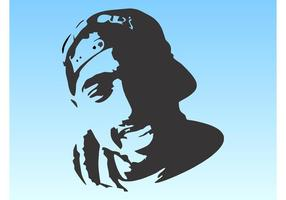 Tupac-Porträt vektor