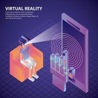 virtuell verklighet isometrisk vektor