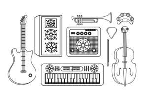 uppsättning professionell musikutrustning
