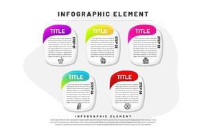 Abgerundete ovale Infografik mit Farbverlauf vektor