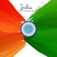 Akvarell bakgrund. Indisk flagga för indisk självständighetsdag