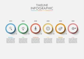 Wirtschaftskreis Timeline Infographik vektor