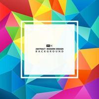 Färgglada polygonmönsteromslag