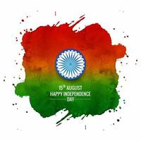 Aquarell-indische Flagge für indischen Tag der Republik