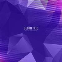 Geometrisk lila design i mångfärgad polygon