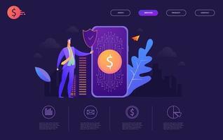 Överför Informationsbanner för plånbok vektor