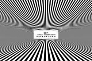 Svartvit linje med perspektivomslag vektor