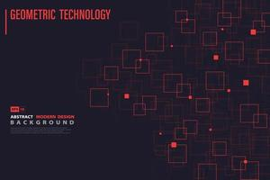 Systematisches Technologiemuster des roten Quadrats