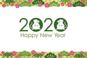 2020 - Råttans år vektor