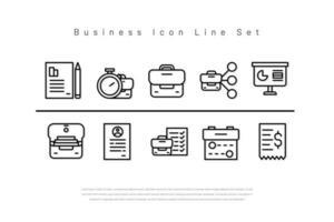 Busines Icon Set Line-Version vektor