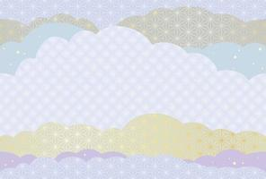 Japanische nahtlose Kartenschablone des neuen Jahres vektor