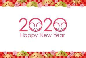 2020 - das Jahr der Ratte vektor