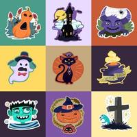 Halloween klistermärken uppsättning