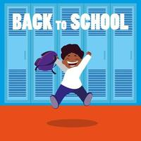 glad student tillbaka i skolhallen