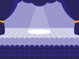 Theaterbühnenszene