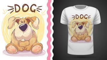 Söt stor hund - idé för tryckt-shirt