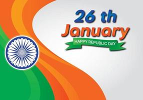 Independence Day Indien Welleneffekt Flagge vektor