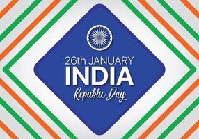 Flagge mit farbigen Diamanten für Indien Independence Day vektor
