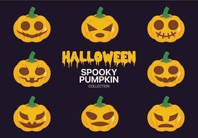 Halloween spöklik pumpasamling vektor