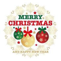 Weihnachtsemblem oder -abzeichen vektor