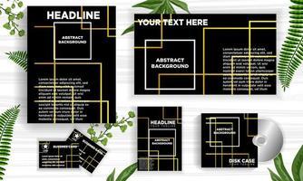 Abstrakte Linie Designfahnen-Netzschablonensatz