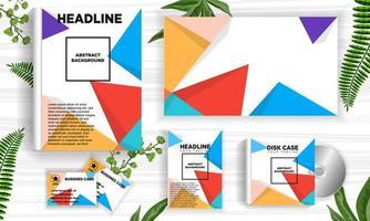 Retro- geometrischer abstrakter Designfahnen-Netzschablonensatz