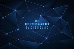 Futuristisk partikelbakgrund för blå prick