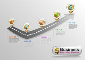 Infografik Business Roadmap Zeitleiste