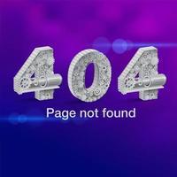 404-felsidan hittades inte med siffror gjorda av växlar