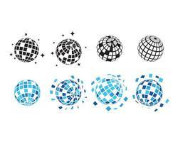 Diskobolluppsamlingsset vektor