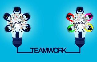 Geschäftstreffen und Teamwork-Konzept vektor