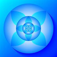 Koncentriskt lotusmönster vektor
