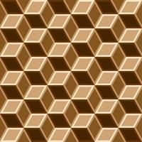 Nahtloses Muster des Kastens 3d auf braunem Ton. vektor