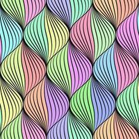 Pastell geflochtene nahtlose Muster vektor