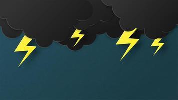 Papierschnittart des Blitzes und des Blitzes