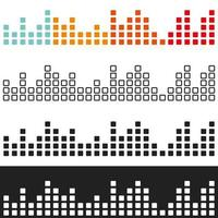 Farbiger Lautstärke-Grafik-Equalizer