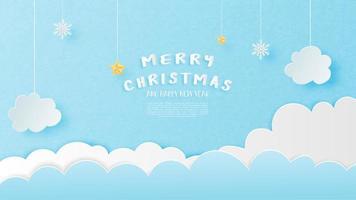 Frohe Weihnachten-Karte im Papierschnitt Stil