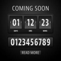 Countdown-Timer-Vorlage vektor