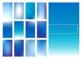 Satz weicher blauer Farbsteigungshintergrund vektor