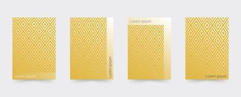 Guld geometriska täcker malluppsättning