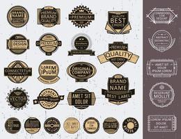 Set von Abzeichen, Logos, Siegel, Briefmarken