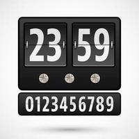 Flip Clock oder Countdown-Timer vektor