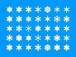 Vita snöflingansamling